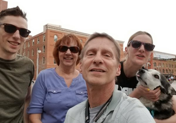 Dan, Drew Jackie & Yuki met me at Union Station to see me off