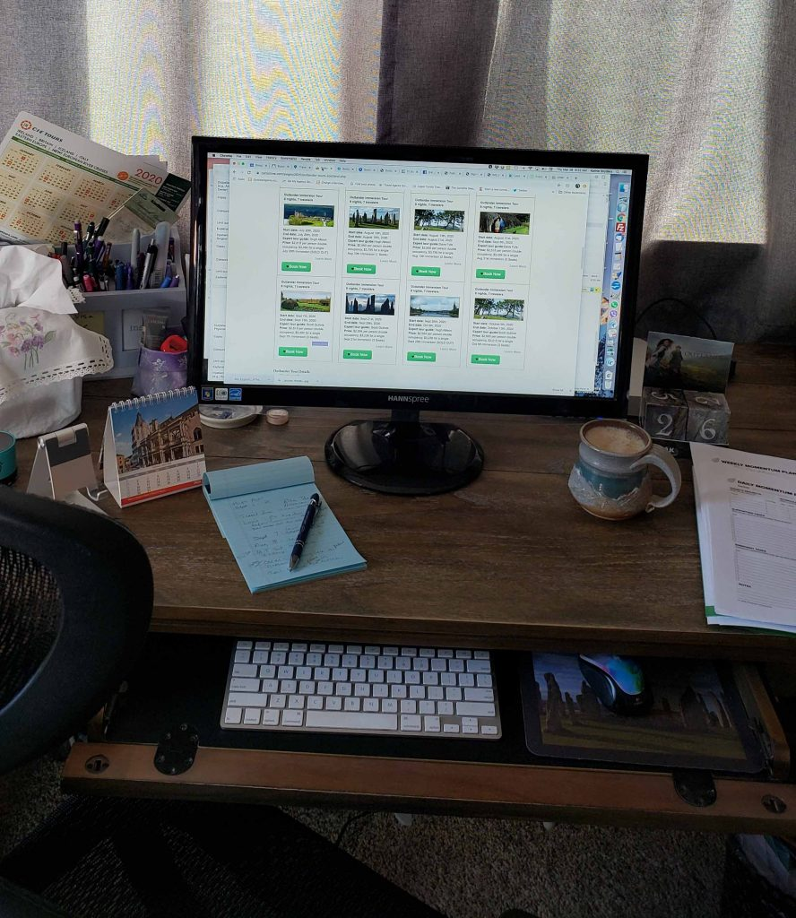 my desk in my home office