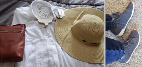 shirt hat purse & shoes