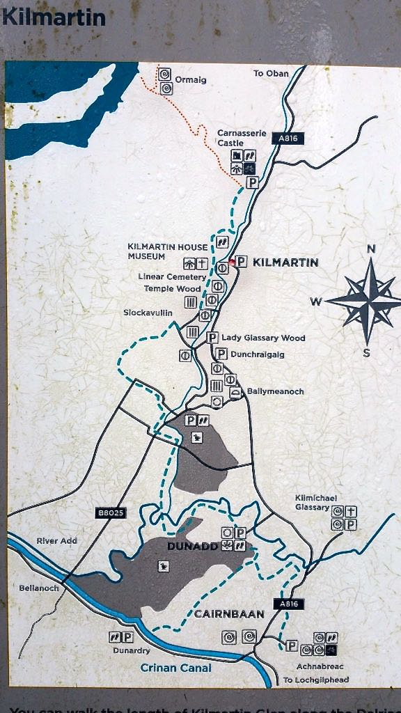 Map of Kilmartin Glen