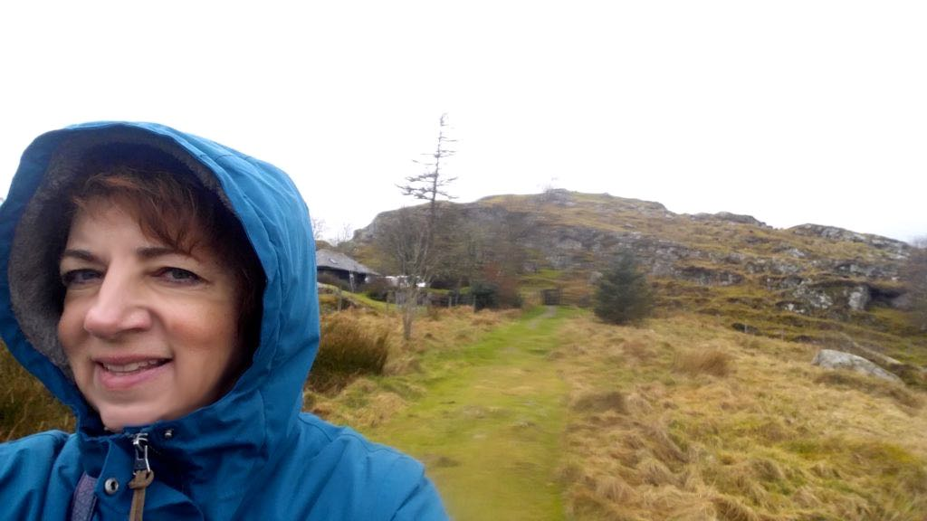 Kathie at Dunadd Fortress