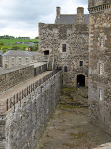 Blackness Castle which stands in for Fort William where Jamie was flogged