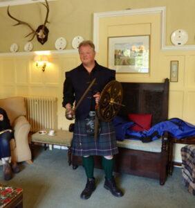 Hugh Allison doing a fun filled weapons presentation