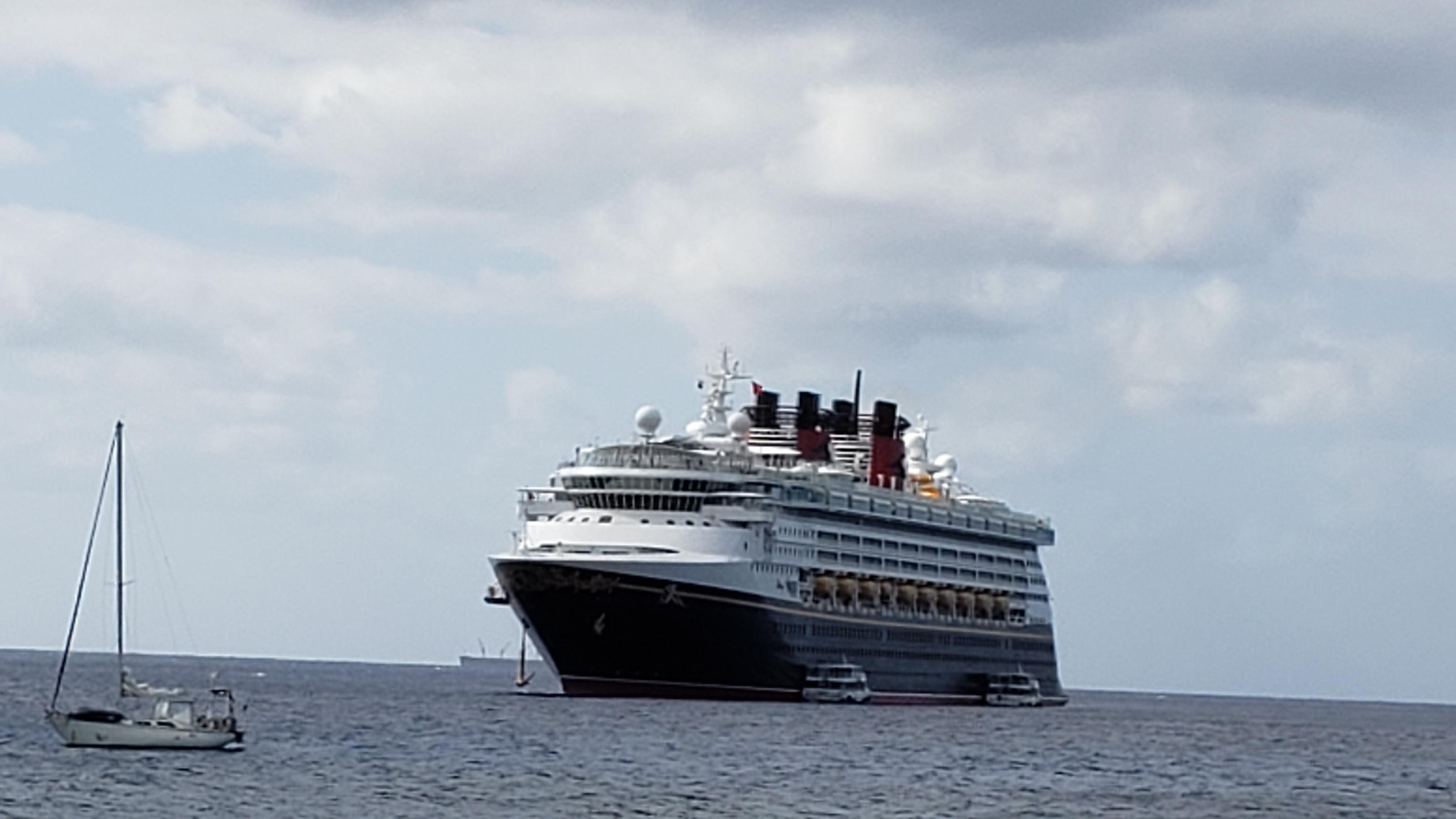 Disney Wonder ship at sea
